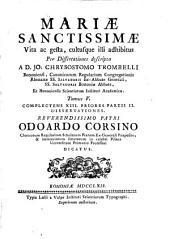 Mariae sanctissimae vita ac gesta cultusque illi adhibitus: Volume 5