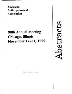 Abstracts of the Annual Meeting    American Anthropological Association PDF