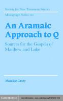 An Aramaic Approach to Q PDF