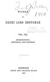 The Works of Henry, Lord Brougham and Vaux: Dissertations