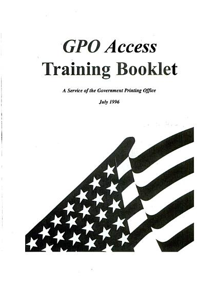 GPO Access Training Booklet PDF