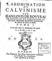 L'abomination du calvinisme