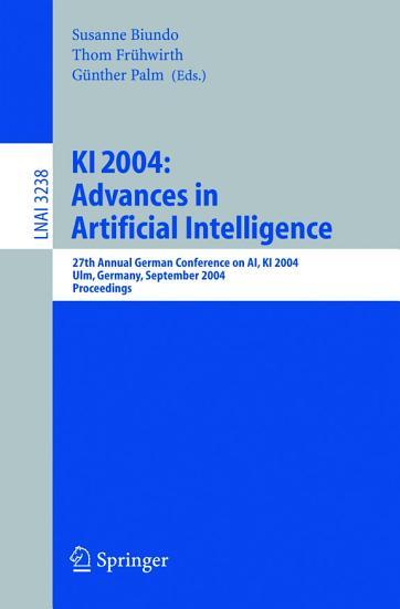 KI 2004  Advances in Artificial Intelligence PDF