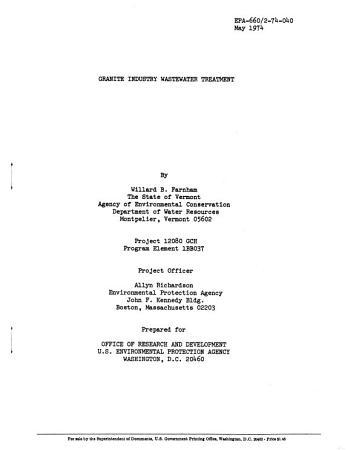 Granite Industry Wastewater Treatment PDF