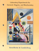 Laboratory Experiments for General  Organic and Biochemistry PDF