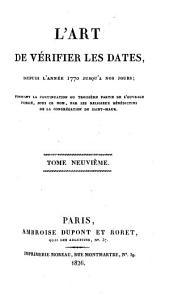 L'Art de vérifier les dates depuis l'année 1770 jusqu'à nos jours: 1826