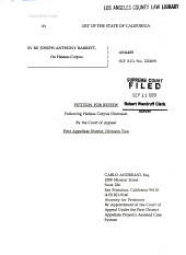 California. Supreme Court. Records and Briefs: S011655, Petition for Review
