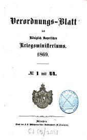 Verordnungs-Blatt: 1869
