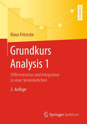 Grundkurs Analysis 1 PDF