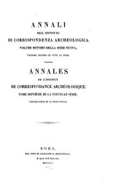 Annali dell'Instituto di Corrispondenza Archeologica: Volume 22