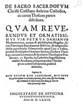 De Sacro Sacerdotum Christi Coelibatu doctrina Catholica
