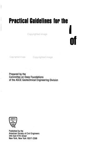 Practical Guidelines for the Selection  Design  and Installation of Piles PDF