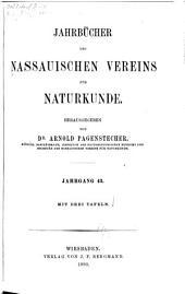 Jahrbücher des Nassauischen Vereins für Naturkunde: Bände 43-44