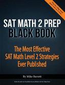 SAT Math 2 Prep Black Book Book