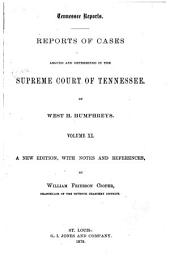 Reports of Cases Argued and Determined in the Supreme Court of Tennessee: Volume 30
