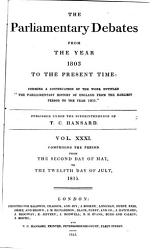 The Parliamentary Debates From The Year 1803 To The Present Time 02 Book PDF