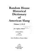 Random House Historical Dictionary of American Slang  H O PDF