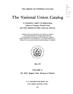 The National Union Catalogs, 1963-