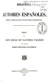 Obras de don Diego de Saavedra Fajardo y del licenciado Pedro Fernandez Navarrete: Volumen 25