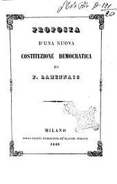 Proposta d'una nuova costituzione democratica