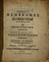 Lectiones membranae Florentinae