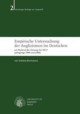 Empirische Untersuchung der Anglizismen im Deutschen PDF