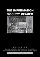 The Information Society Reader PDF