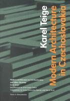 Modern Architecture in Czechoslovakia and Other Writings PDF