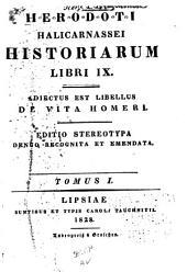 Herodoti Halicarnassei historiarum libri IX.: Adiectus est libellus de vita Homeri, Τόμοι 1-3