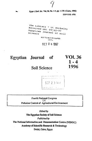 Egyptian Journal of Soil Science PDF