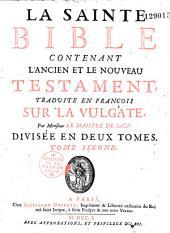 La sainte bible, traduite en français, par de Sacy