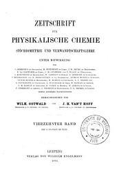 Zeitschrift für physikalische Chemie: Band 14