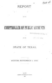 Report of the Comptroller of Public Accounts of the State of Texas