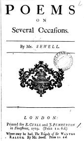 Poems on Several Occasions: By Mr. Sewell