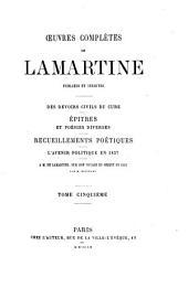 Œuvres complètes: publiées et inédites. Des devoirs civils du curé ¬u.¬a, Volume5