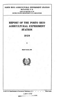 Report of the Federal Experiment Station in Puerto Rico PDF