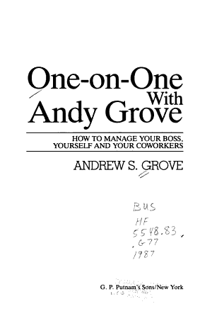 One on one with Andy Grove