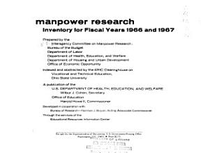 Manpower Research  Inventory  1966 67 1969 PDF