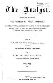 The Analyst: Volume 7