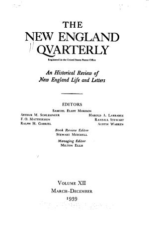The New England Quarterly PDF