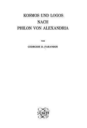 Kosmos und Logos nach Philon von Alexandria PDF