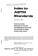 Book of A S T M  Standards  with Related Material PDF