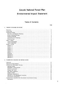 Environmental Impact Statement for the Lincoln National Forest Plan PDF