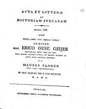 Acta et litterae ad historiam suecanam: Volume 13