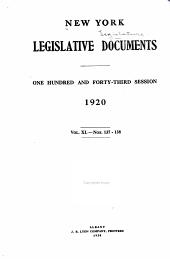 Legislative Document: Volume 40