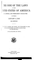 Code of Laws of the United States of General and Permanent Character in Force January 3  1935 PDF
