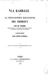 La kabbale, ou, La philosophie religieuse des Hébreux, par Ad. Franck