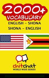 2000+ English - Shona Shona - English Vocabulary