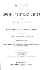 Journal of the House of Representatives of the United States: Volume 50, Issue 1, Part 1