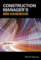 Construction Manager s BIM Handbook PDF